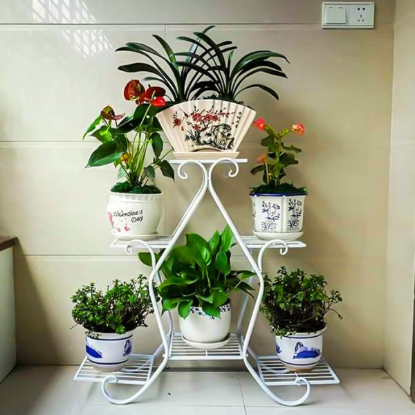 6 Layer Flower Shelf white