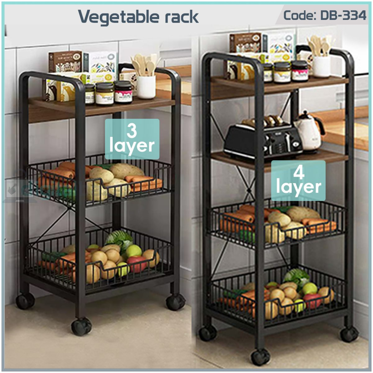 Buy premium quality Vegetable Rack Stand at the best cheapest price in Bangladesh, Order online or visit our Facebook page: digitalbazar.com