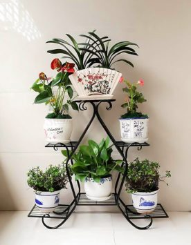 6 Layer Flower Shelf black
